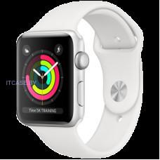 Часы Часы AppleWatch Series3 GPS, 38mm Silver Aluminium Case with White Sport Band, Model A1858 MTEY2FS/A