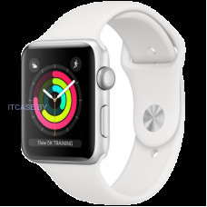 Часы Apple Watch Series 3 GPS, 38mm Silver Aluminium Case with White Sport Band, Model A1858 MTEY2GK/A