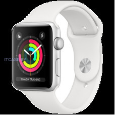 Часы Apple Watch Series 3 GPS, 42mm Silver Aluminium Case with White Sport Band, Model A1859 MTF22FS/A