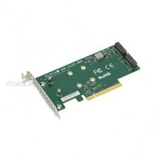 Адаптер Supermicro Low Profile, Dual NVMe M.2 SSD PCIe add-on card AOC-SLG3-2M2