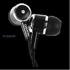Наушники CANYON Stereo earphones with microphone, Black CNE-CEPM01B