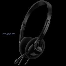 Наушники CANYON PC headset with microphone, volume control and adjustable headband, cable 1.8M, Black CNE-CHS01B