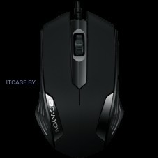 CANYON Optical wired mice, 3 buttons, DPI 1000, Black CNE-CMS02B