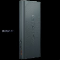 CANYON Power bank 13000mAh built-in Lithium-ion battery, max output 5V2.4A, input 5V2A. Dark Gray CNE-CPBF130DG