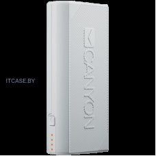 CANYON Power bank 4400mAh, built-in Lithium-ion battery, output 5V2A, input auto-adjust 5V1A-2A, White CNE-CPBF44W