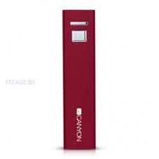 CANYON портативное заряное устройство, цвет - красный, материал алюминий, емкость 2600 мАч, выход DC5V 1A (1 USB), вход DC5V 1A, жизненный цикл: 500. CNE-CSPB26R