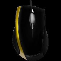 CANYON мышь, цвет - черный/зеленый, проводная, DPI 800, 3 кнопки, колесо прокрутки с подсветкой. CNR-MSO01NG