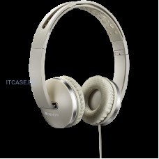 Наушники CANYON Stereo headphone with microphone and switch of answer/end phone call, cable 1.2M, Beige CNS-CHP4BE