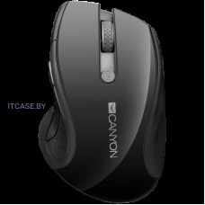 CANYON 2.4Ghz wireless Мышь, optical tracking - blue LED, 6 buttons, DPI 1000/1200/1600, Black pearl glossy CNS-CMSW01B