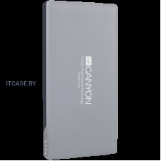 CANYON Power bank 10000mAh (Color: Dark Gray), bulit in Lithium Polymer Battery CNS-TPBP10DG