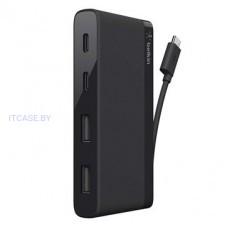 Адаптер BELKIN 3.0 USB-C TRAVEL HUB, BLACK F4U090BTBLK