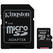 Память (flash-карты) Kingston 32GB microSDXC Canvas Select Class 10 UHS-I 80MB/s Read Card + SD Adapter SDCS/32GB